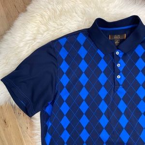 TASSO ELBA MENS GOLF Royal Navy Blue Shirt LARGE